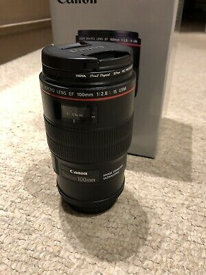 Canon EF 100mm F/2.8 l Macro Is USM Lens Mint Condition With Lens Caps And Hood