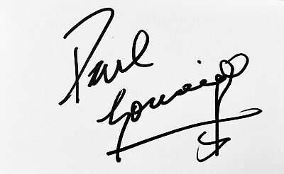 Paul Gascoigne HAND SIGNED White Card TOTTENHAM NEWCASTLE RANGERS *In Person COA