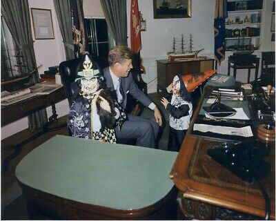 John F Kennedy Halloween In The White House 8X10 Photo Print 28012002371