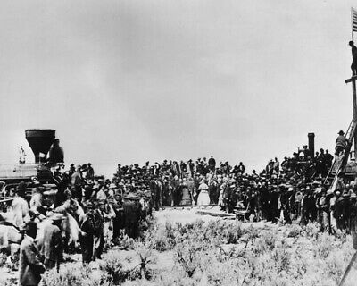 1869 Golden Spike TRANSCONTINENTAL RAILROAD Glossy 8x10 Photo Print Poster