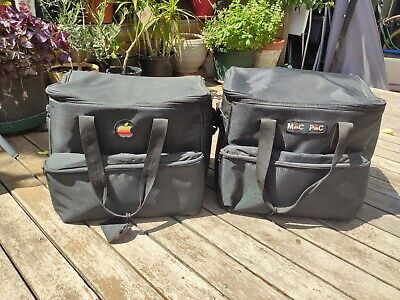 2 Vintage Apple Macintosh Carry Bags. Padded Mac Pac, Classic, Rare