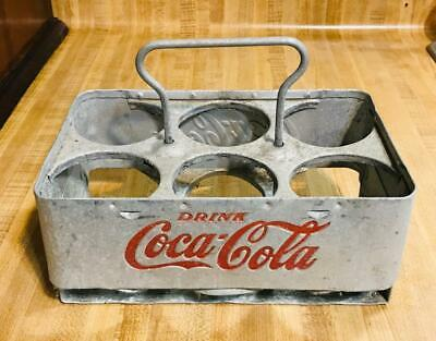 Vintage Coca Cola Coke Aluminum Metal 6-Pack Bottle Holder Drink Carrier Rare