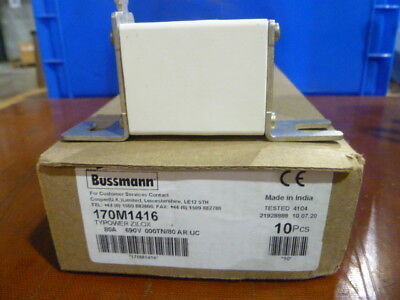 Cooper Bussmann 170M1416 80A Square Body Blade Fuse (10 PCS) - NEW IN BOX