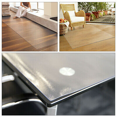 Polycarbonate Rectangular Chair Mat for Hard Floors Transparent Floor Protector