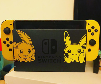 Nintendo Switch Pokemon Lets Go Eevee Limited Edition Console + Accessories