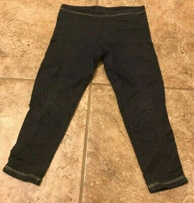 Pair of Denim colored leggings - Size 4 to 5 Years from Faded Glory