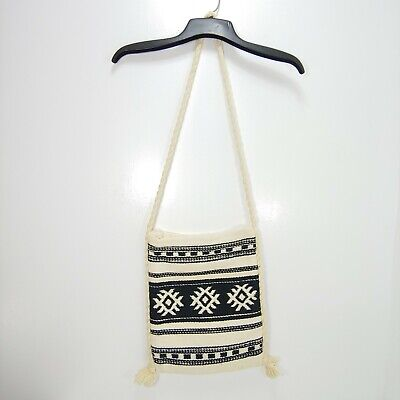 Vtg Southwest Woven Wool Cross Body Purse Native Aztec Bag Boho Hippie Greece