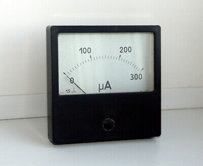 DC 0- 300 uA Analog Dial panel Gauge micro ammeter,  USSR, RARE! Lot of 1 pcs!