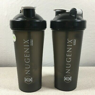 Nugenix GNC Fitrider Perfect Shaker Bottle 20 oz Set of 2 Perfectshaker BPA Free