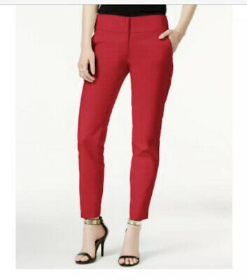 New XOXO Bright Red Skinny Dress Career Ankle Pants Trousers Size 12