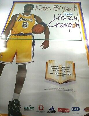 Kobe Bryant Poster Literacy Champion 24x36 Limited Edition Print Rare One Known