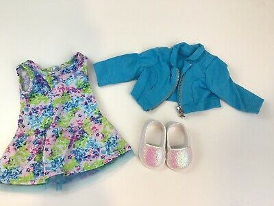 American Girl *CHRISSA/'S FLORAL MEET OUTFIT* Dress~Shoes~Bracelet~NIP~Fast Ship