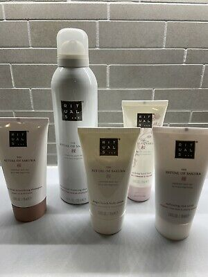 RITUALS: Sakura Foaming Shower Gel 200ml + Shampoo, Balm, Lotion & Scrub 4x 70ml