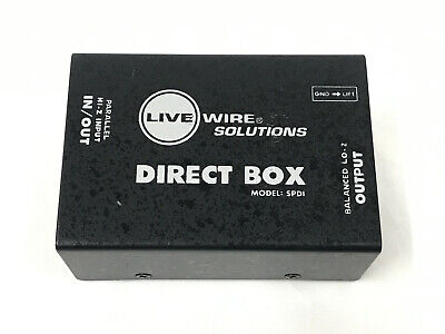 LiveWire Solutions SPDI Passive Direct Box with Attenuation Pad