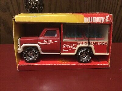 """Vintage Buddy L Coca Cola """"It's the Real Thing"""" Delivery Truck Still In Box 1979"""