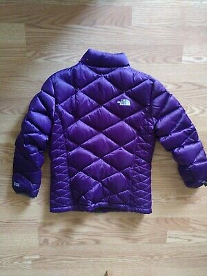 The North Face 550 Girls Purple Down Puffer Jacket Coat Girls Size L (14/16)
