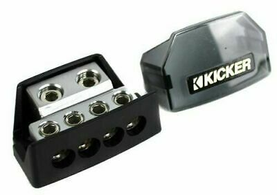 Kicker DB4 Distribution Block with 1/0-8 Gauge Inputs and 4-8 Gauge Outputs