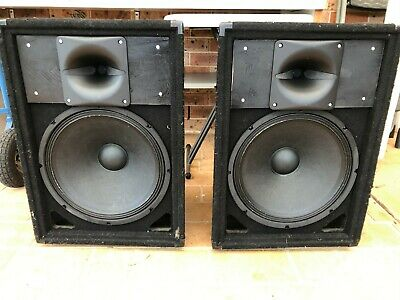 """Silicon Chip Majestic Speakers (unfinished project) 15"""" Woofers, Celestion Horns"""