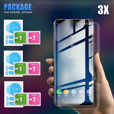 3x 6D UV Full Coverage Samsung Galaxy S10 S9 S8 Tempered Glass Screen Protector
