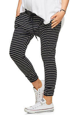 NEW - Bae - Beating Heart Lounge Maternity Pregnancy Pants in Navy Stripes