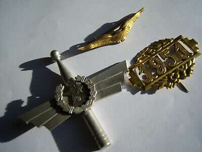 lot 3 anciens insignes FRENCH BADGE PILOT AIGLE Insigne Broche  AVIATEUR PILOTE