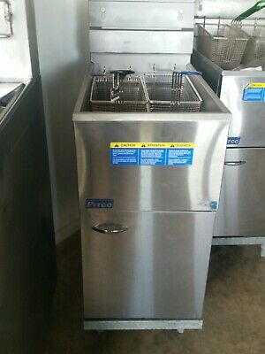 Refurbished  Pitco 35C LPG Twin Basket Deep Fryer  W/ warranty