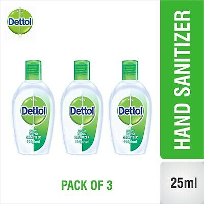 Dettol Instant Hand Sanitizer Original -25ml x 3 Kills 99.9% Germs without Water