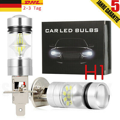 2x H1 100W Auto LED High Power Scheinwerfer Glühlampen 6000K Superweiß 16000LM