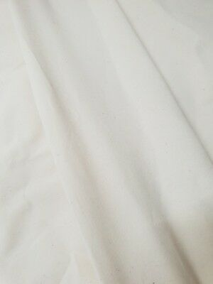 Calico 100% Recycled Cotton Canvas 5m MEDIUM WEIGHT Fabric Natural AAL