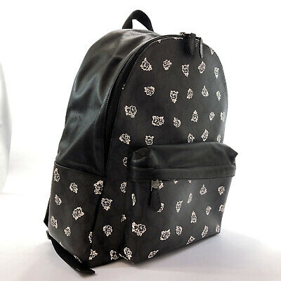 COACH  F55970 Flower pattern Signature Backpack · Daypack white PVC/leath...
