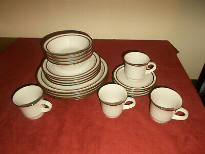 Noritake Tundra Brown Rim Off White Footed Cup 0550