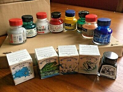 Winsor & Newton Calligraphy Ink job lot