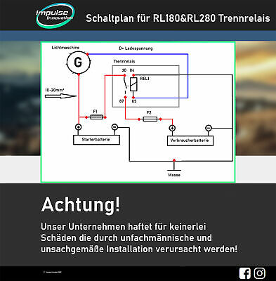 Schaltplan RL180/12 & 280/12 Trennrelais PDF-Download