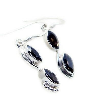 comely Smoky Quartz 925 Sterling Silver Brown Earring genuine supply CA gift