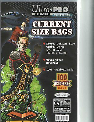 50 Ultra Pro Premade Current Comic Book Storage Bags & Backer Boards