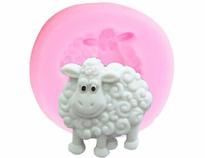 Sheep Shape Silicone Mould Animals Candy Clay Mold Baby for Birthday Cake Decor