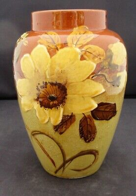Rookwood American Art Pottery vase, barbotine painted (Limoges style), c1900