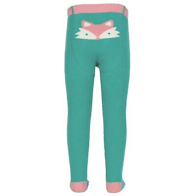 Kite Clothing 100% Organic Cotton, Girls Foxy Plain Tights (Green) RRP £11.00
