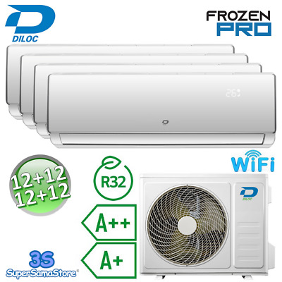 3S CLIMATISEUR SMART WIFI DILOC FROZEN R32 3,0+3,0+3,0+3,0 Kw compresseur SHARP