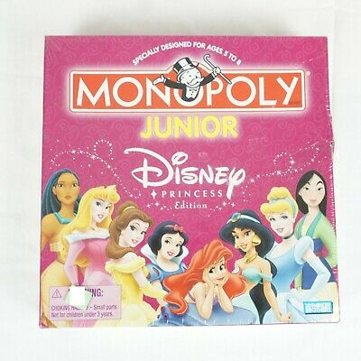 MONOPOLY JUNIOR Disney Princess Edition NEW in Box SEALED Snow White Cinderella