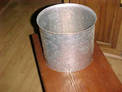 """No 901  WENDALL AUGUST  -  HAND-HAMMERED  ALUMINUM TRASH CAN -  10"""" tall"""