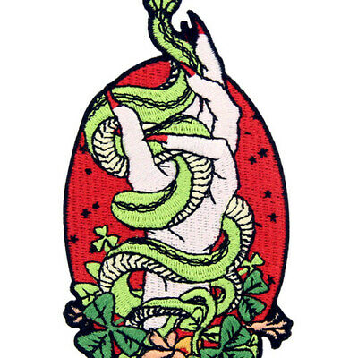 Embroidered Iron Sew On Patches transfers Badges appliques Hands Snakes 693R