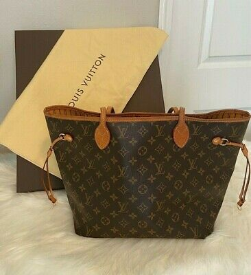 CLASSIC Louis Vuitton Monogram Neverfull MM Tote WITH POUCH & CLASSIC PACKAGING