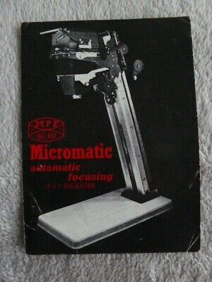 MPP Microtechnical Products MPP Micromatic Enlarger Sales leaflet c1955