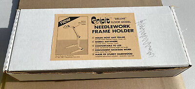 "Wooden floor model Needlework frame holder Gripit Vintage ""Deluxe"""