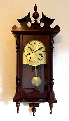 Vienna Wall Clock, Antique Style, Striking, Fully Working, Vgc, Collect Bd9.