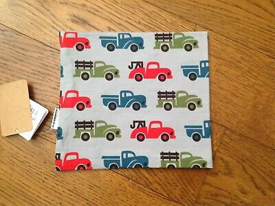 Maxomorra  Scarf Tube in Truck design on Grey background- up to 24mths