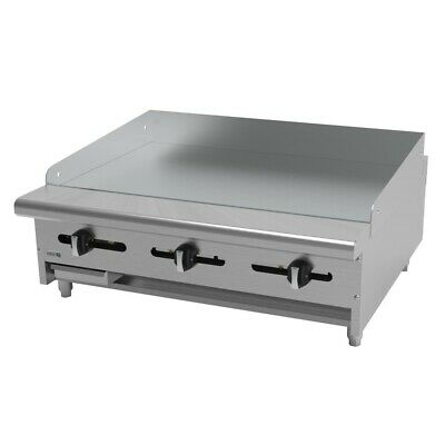 """Asber AEMG-36 H 36"""" Standard Duty Manual Griddle  3/4"""" Plate Nat Gas Countertop"""