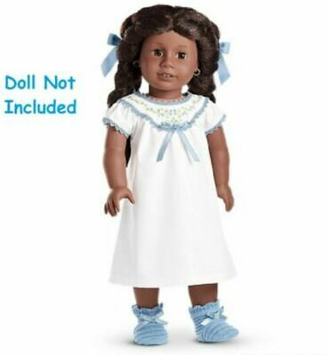 American Girl Addy's Nightgown ~ Slippers ~ Hair Bows ~ NEW in Box