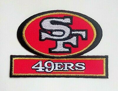 "San Francisco 49ers Embroidered 3 3/8"" Iron On Patch"